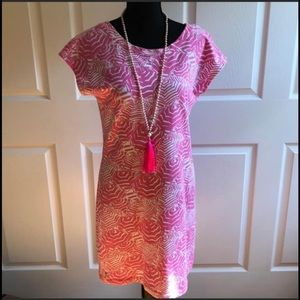Lilly Pulitzer Pink Umbrella Cotton Dress